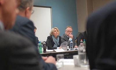 Næringsminister Monica Mæland og fiskeriminister Per Sandberg ønsker tettere kontakt med næringslivet. Foto: Nærings- og fiskeridepartementet.