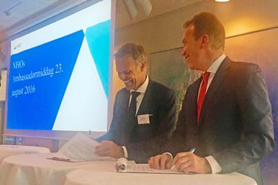 Utenriksminister Børge Brende og NHO-president Tore Ulstein