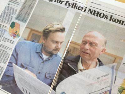 Porsgrunn er best i fylket, men det gir bare 38. plass i NHOs kommune-kåring. Staten bør slå sammen kommuner, mener NHOs Nikolai Boye.