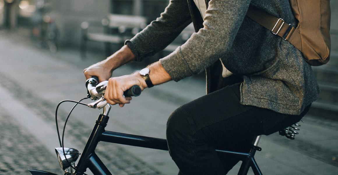 Syklist. Foto.