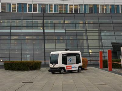 Torsdag ble vi invitert med på en reise til fremtiden. NHO Transport, Telenor, Ruter Flytoget og Acando inviterte til tur med selvkjørende buss.
