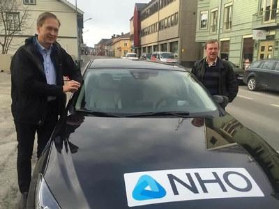 Fra NHO Innlandets medlemsturne april 2016. Erik Lundeby og Frode Berntsen.