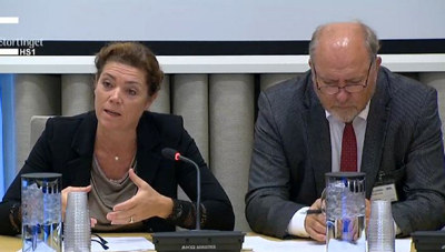NHO-sjef Kristin Skogen Lund sa seg fornøyd med regjeringens satsing på samferdsel og forskning, men er utålmodig når det gjelder skattereform og innfasing av grønn teknologi.