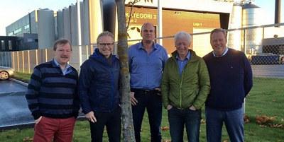 Fra medlemsbesøk hos Norsk Proteinfabrikk på Hamar. Einar Busterud, ordfører i Hamar kommune deltok også.