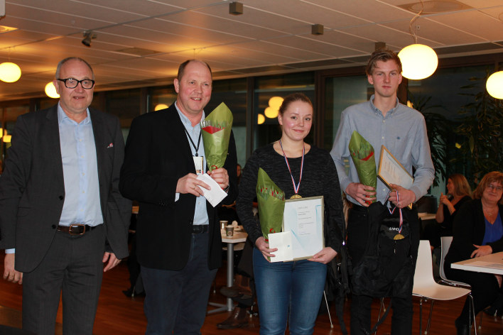 Joana C. Bracht, Toyota Arendal og Tor Øyvind Venemyr Voreland, Betel O. Steen Last og Buss, Kristiansand ble kåret til årets lærlinger i NHO Agder.