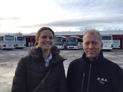 Daglig leder Morten Stovner-Sørlie i H M Kristiansens Automobilbyrå