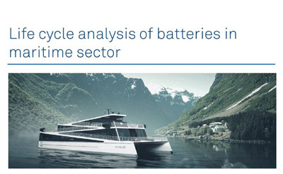 Batteries used in maritime sector is environmentally very good, according to a study conducted by Maritime Battery Forum.