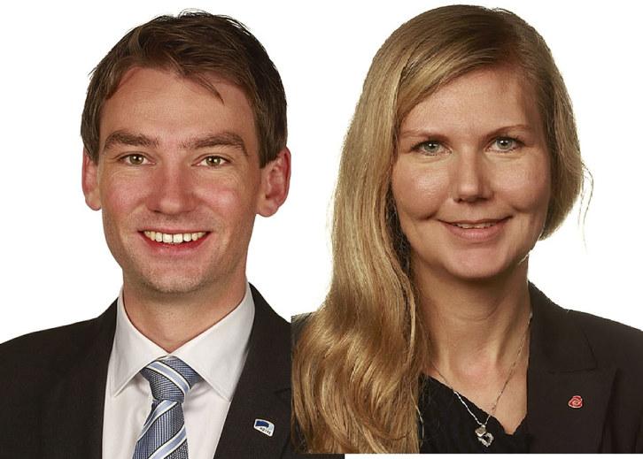 Henrik Asheim (H) og Marianne Marthinsen (Ap) skal leder NHO Oslo Akershus årskonferanse