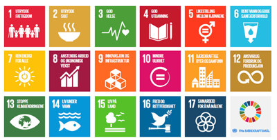 FNs 17 bærekraftsmål er verdenssamfunnets felles arbeidsplan for å utrydde fattigdom, bekjempe ulikhet og finne klimaløsninger innen 2030.