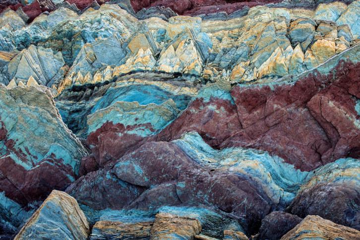 Sediment stein, Batsfjord, Persfjord, Varanger, Finnmark, Norway