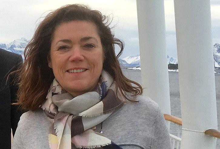 Stein Lier-Hansen i Norsk Industri og NHO-sjef Kristin Skogen Lund på Hurtigruten.
