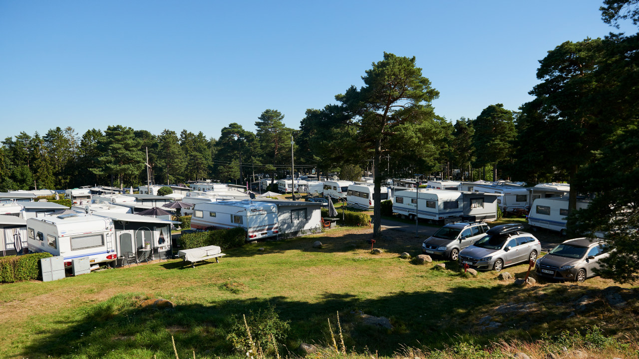 Oversiktsbilde over Larkollen Camping