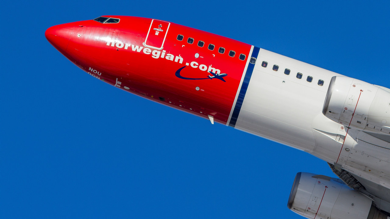 Norwegian-fly i lufta