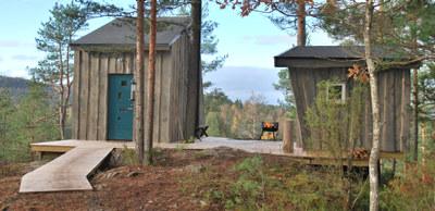 Hytter i skogen