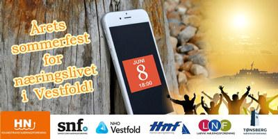 Ikke gå glipp av årets hyggeligste happening for Vestfold-bedrifter! I år drar vi til Holmestrand 8. juni.