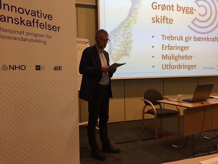 """Forrige uke arrangerte 11 kommuner og Telemark Fylkeskommune seminaret """"Bygg i Tre""""."""