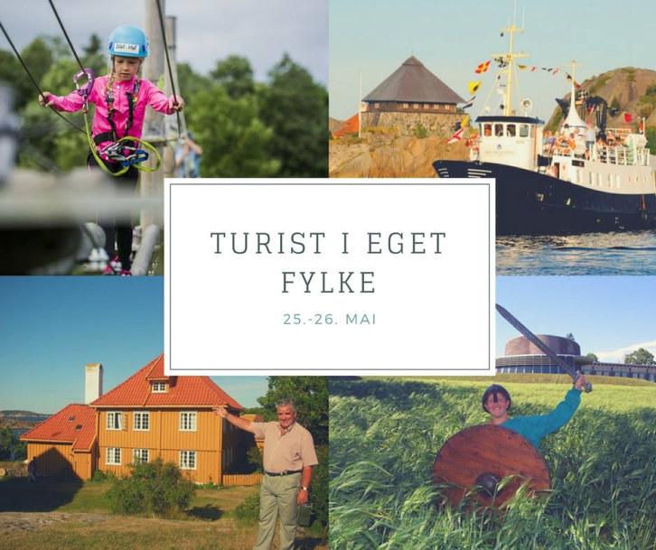 """Torsdag og fredag 25. og 26. mai arrangerer Visit Vestfold""""Turist i eget fylke"""". Benytt gode tilbud ogoppdag eget fylke du også!"""