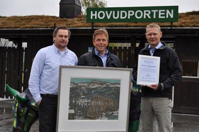 """Dyrsku´n tildelt prisen """"Årets Reiselivsbedrift 2017"""" av NHO Reiseliv Sør-Norge."""