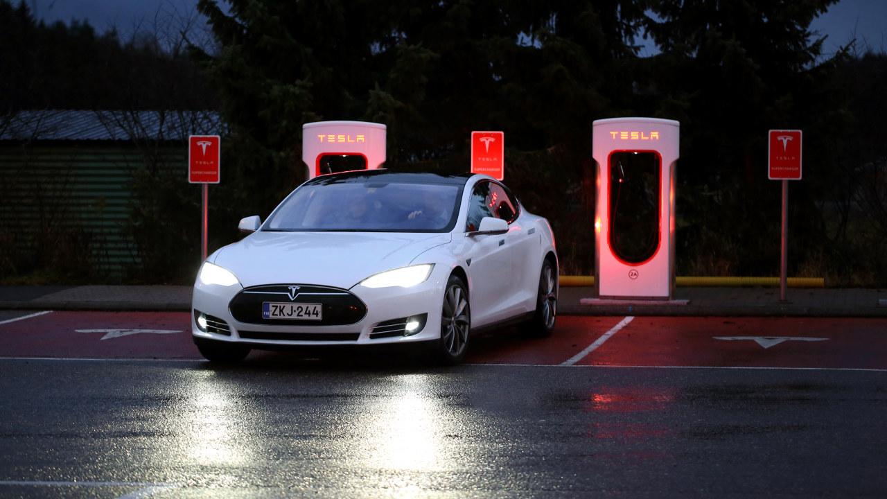 Tesla Model S, illustrasjonsbilde.
