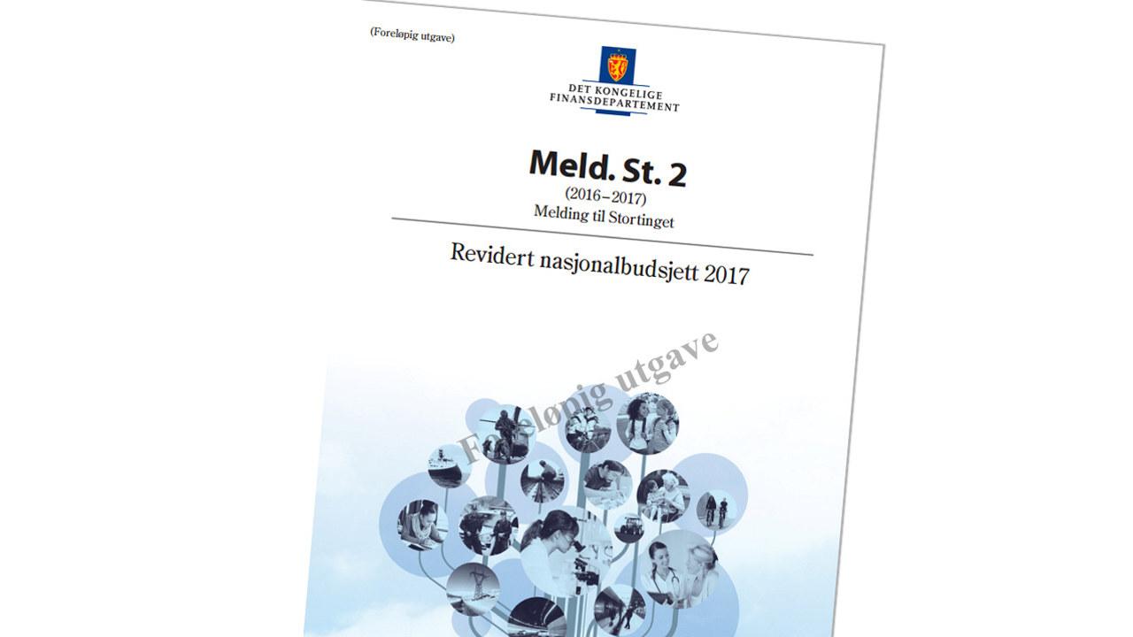 Forsiden av Revidert nasjonalbudsjett 2017.