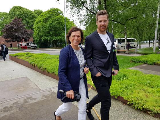 Gå for Næringslivet: Bente Stein Mathisen (H) og Heine Aardalen fra Stolt Bemanning