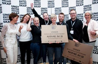 AgriMare Bio SB fra Ålesund er Norges beste studentbedrift 2017. Nå skal de unge gründerne representere Norge under EM i Helsinki.