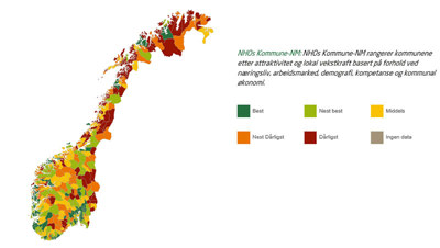 Områdene rundt Oslo, Stavanger, Bergen og Trondheim vinner årets Kommune-NM. Detviser hvor viktig det er å utvikle store og slagkraftige kommuner der næringslivet vil satse.