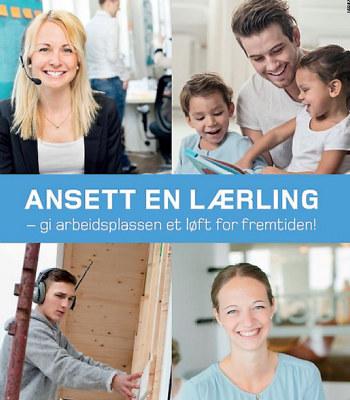 Her finner du informasjon om lærlinger på jobbjakt som beskrevet i annonsen fra Samfunnskontrakten.