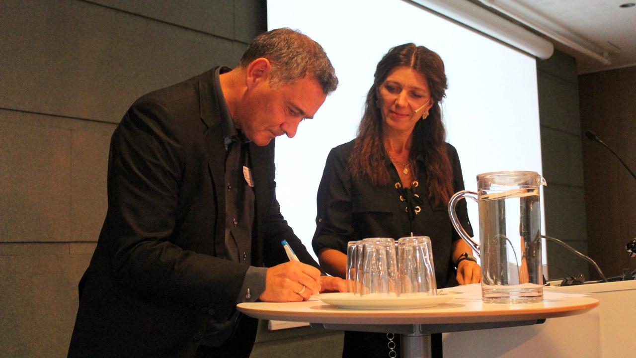 HR-direktør Per-Ole Thorsen i Bakehuset og administrerende direktør i NHO Service Anne-Cecilie Kaltenborn.