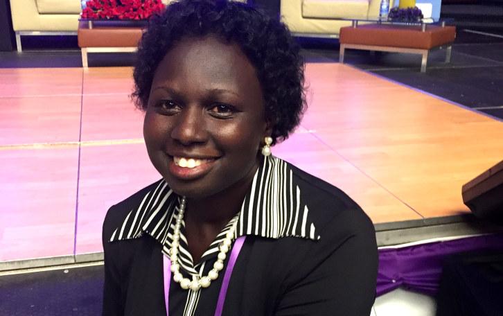 Betty Ogiel Rubanga har gjennomført NHOs Female Future-program. Det var det som gav henne mot til å skrive bok om sin kamp for å få utdanning. Foto: Ingunn B. Christiansen.
