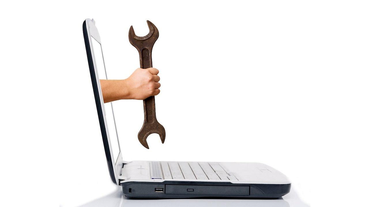 PC med fastnøkkel