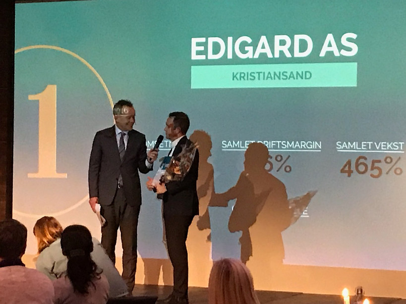 Edigard i Vest-Agder og Multiflis i Aust-Agder er de to gasellevinnerne på Sørlandet i 2017.