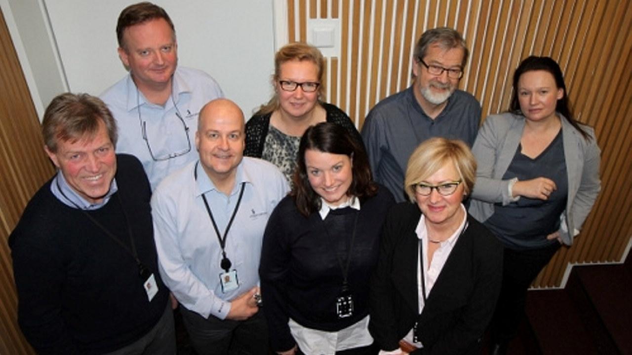 Forsker Jan Tøssebro og prosjektmedarbeiderne i Ringer i Vannet.
