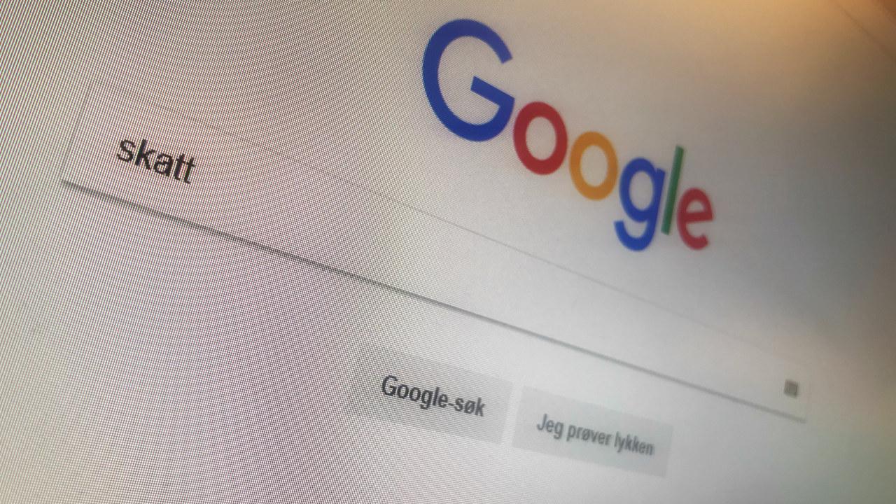 Skjermdump fra Google.no