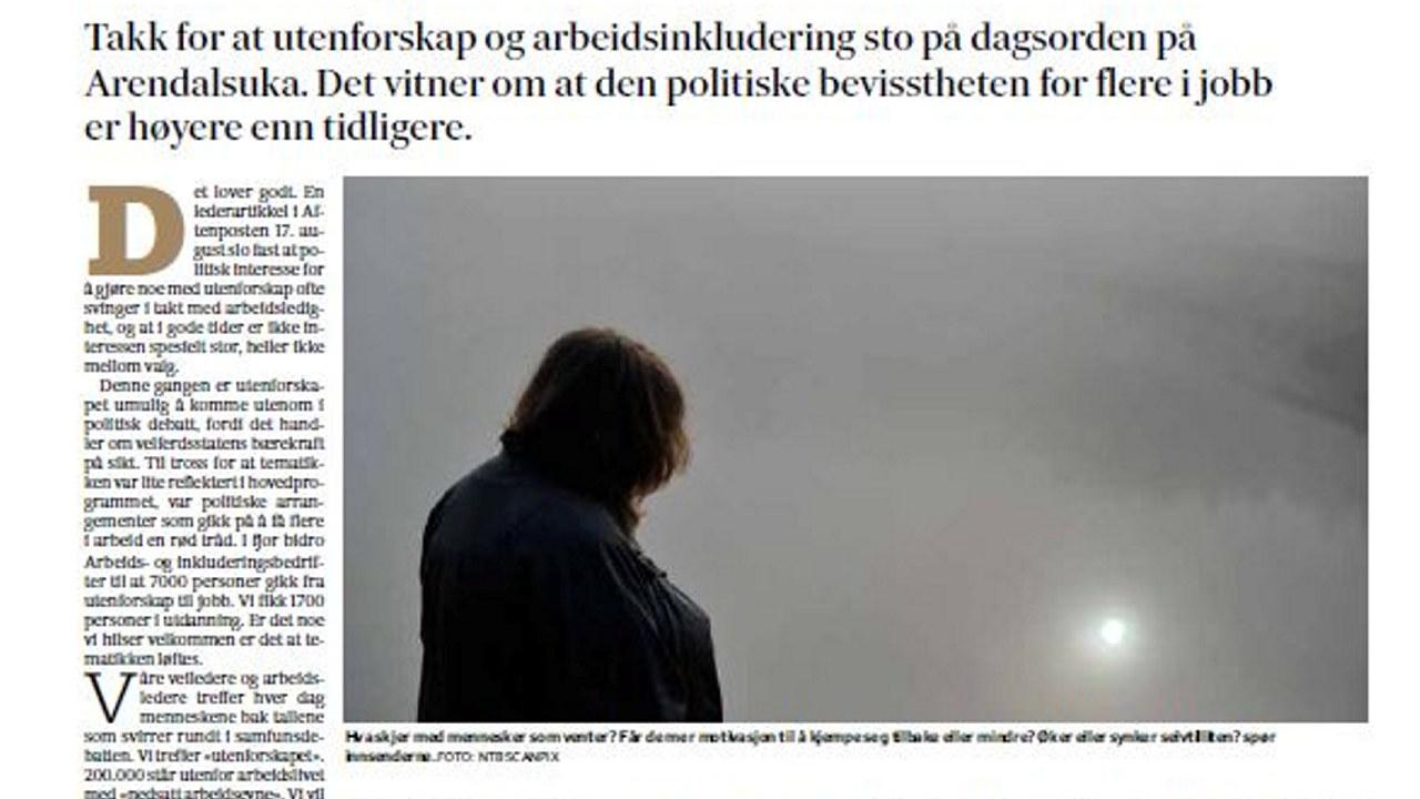 Faksimile Fædrelandsvennen