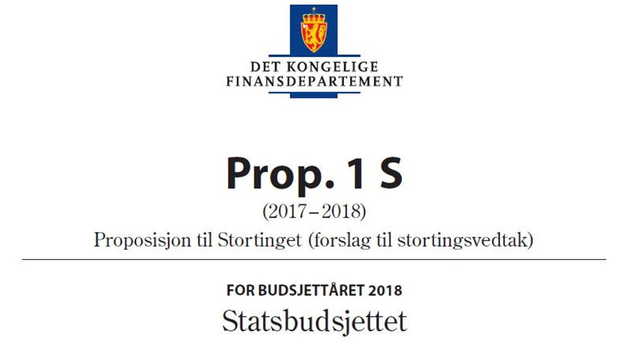 Statsbudsjettet 2018