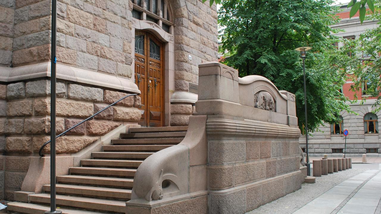 Trappen opp til Finansdepartementet i Oslo