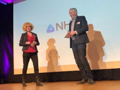 Nytt styre i NHO Arktisk. Styreleder Tore Wæraas og nestleder Adrianne Ubeda