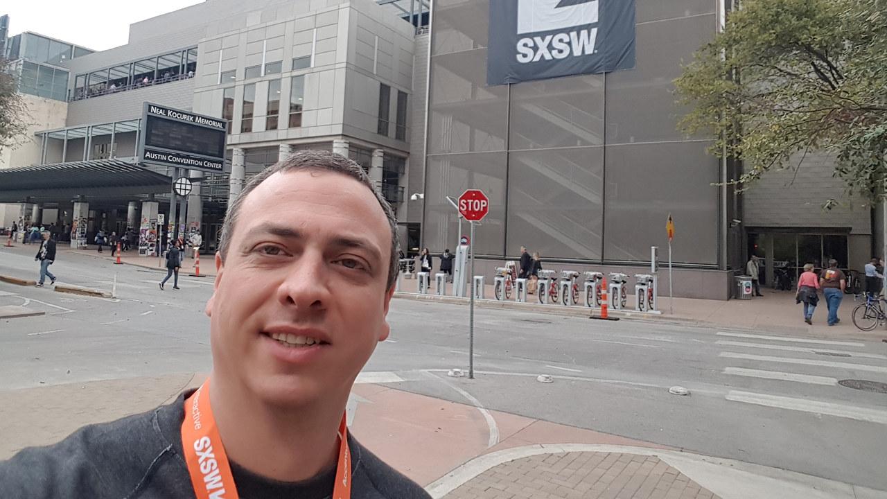 Kjetil Thorvik Brun på SXSW i Austin, Texas.