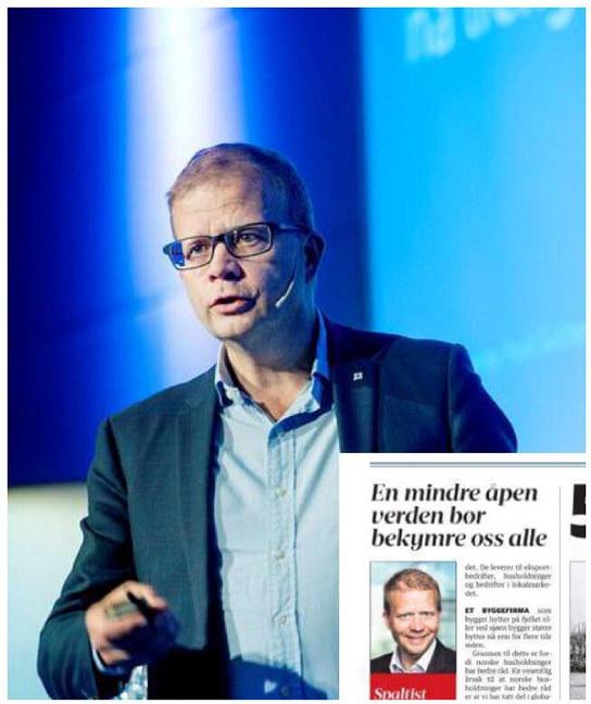Hele vår velstand er tuftet på at vi har kunnet handle med andre land skriver regiondirektør Gulbrandsen i dagens utgave av Fredrikstad Blad.