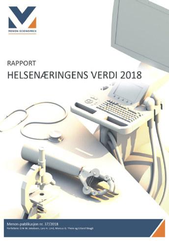 """Forside av rapporten """"Helsenæringens verdi 2018""""."""