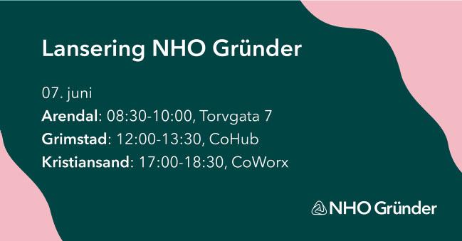 Vi lanserer NHO Gründer i Agder torsdag 7. juni. Er din bedrift i etableringsfasen anbefaler vi at du sjekker ut dette. For kun 2000 kr i året får du tilgang til en rekke medlemsfordeler.