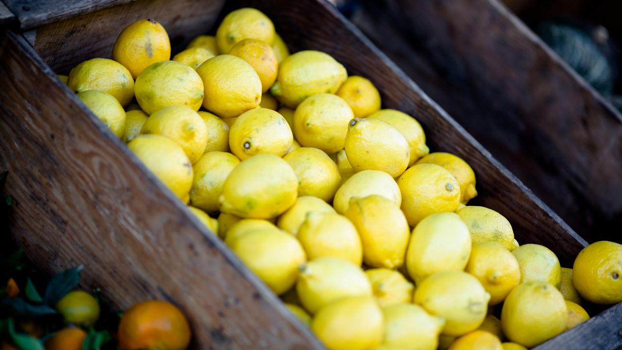 Sitroner i kasse