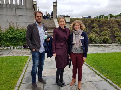 Gå for Næringslivet: Runar Frømyhr Nomias, Hege Schøyen Dillner fra Veidekke og Tuva Moflag Arbeiderpartiet