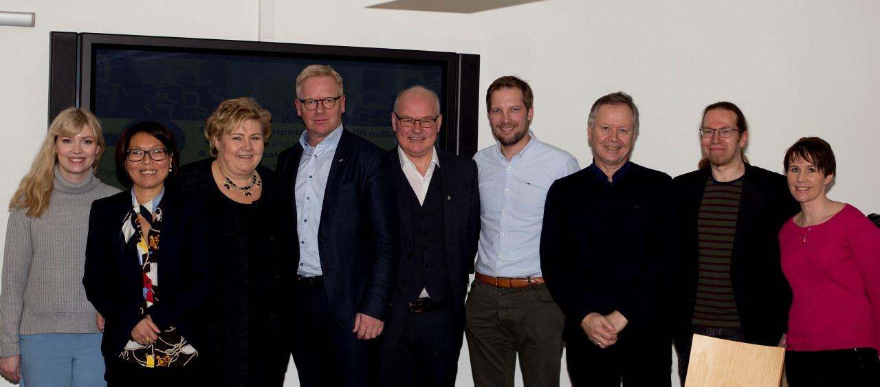 BA næringen og statsminister Erna Solberg