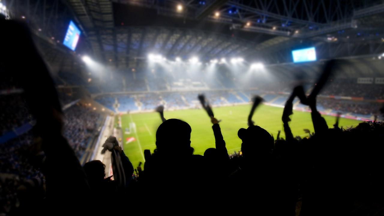 Fotballstadion.