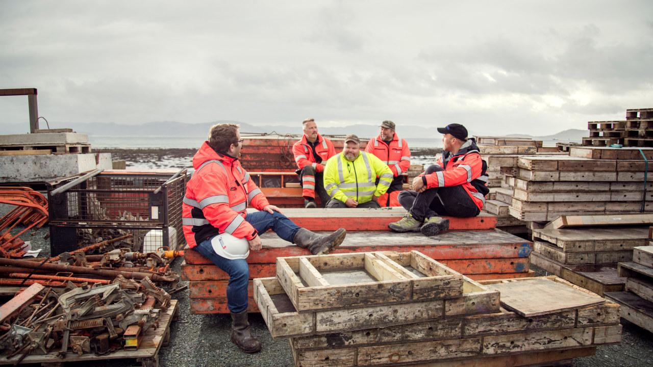 Arbeidere ved Rædergård Entreprenør