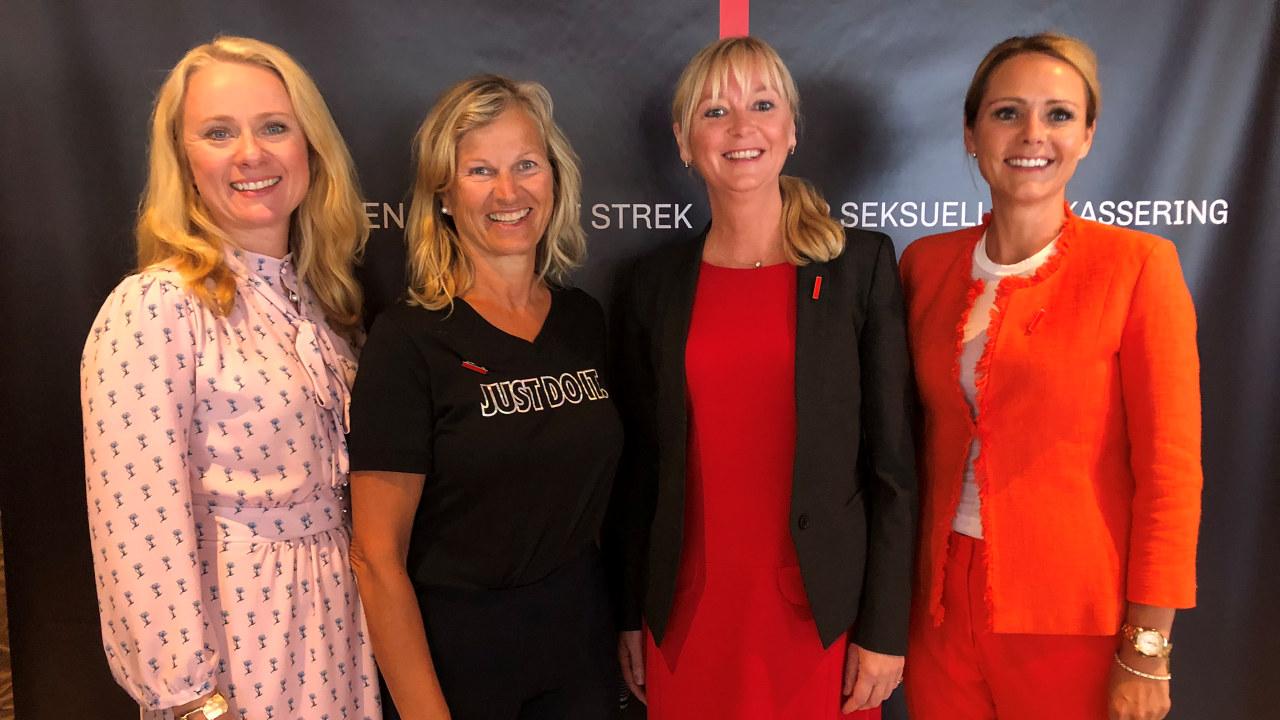 Bilde av fire av de som har lansert kampanjen.