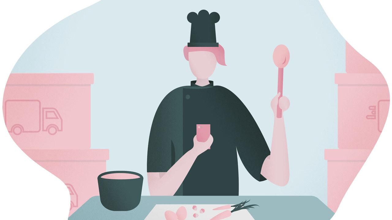 Illustrasjon av kokk