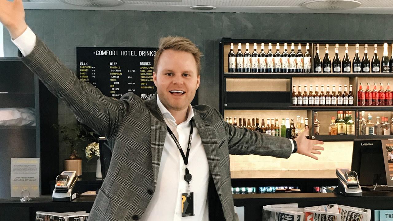 Espen Ravnå, hoteldirektør ved Comfort Hotel Trondheim